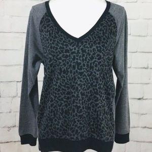Sanctuary Leopard Side Zipper Sweater